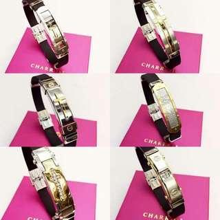 Stainless Rubber Combi Faith Bracelet