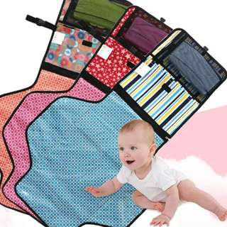 [PO] BN Portable Diaper Changing Mat Clutch  (Waterproof Padded)