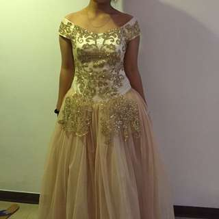 Nude Ball Gown