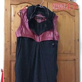 運動風無袖連身裙M-XL