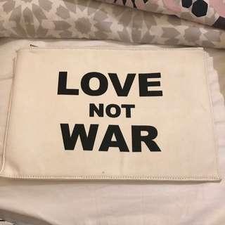 Love Not War Clutch