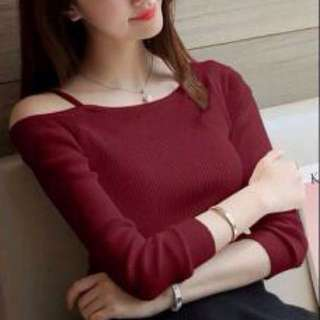 REPRICE Knit Import Maroon