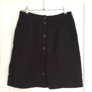Black High waisted Skirt (missing Button)