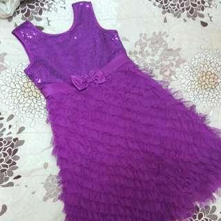 女童精品訂製洋裝。只穿一次