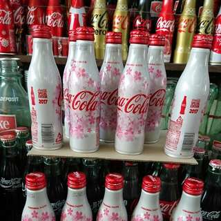 🚚 YUMO家 2017 日本限定 櫻花盛開 櫻花紀念瓶 超漂亮粉紅系 可口可樂 原裝滿瓶