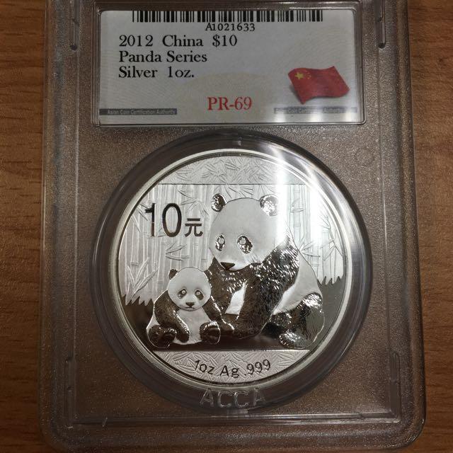 2012年 中國 大陸 熊貓 銀幣 1oz