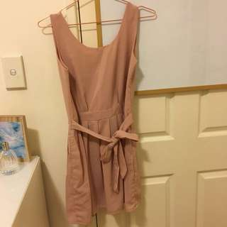 Dusty Pink Chiffon Dress