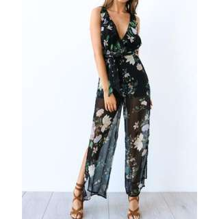 Jumpsuit Black Floral