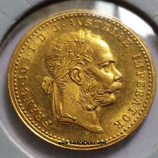 1 Ducat gold coin dated 1879 - Franz Joseph I - issued by the Kingdom of Austria