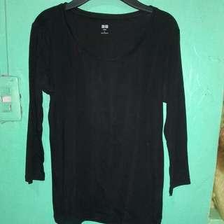 Uniqlo supima cotton half sleeve blouse