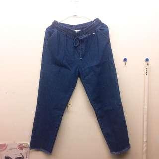 (全新)超好搭牛仔寬褲