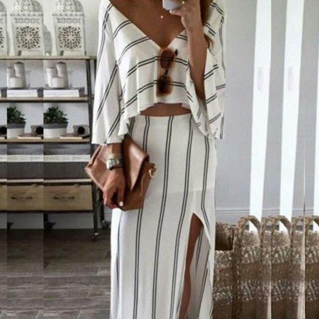 2-piece Dress Top White Club Summer Small