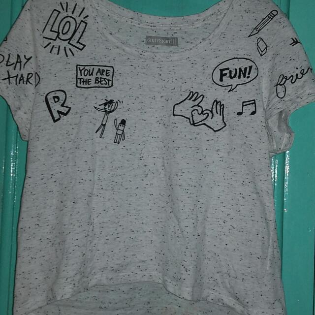 6ixty8ight Gray Crop top