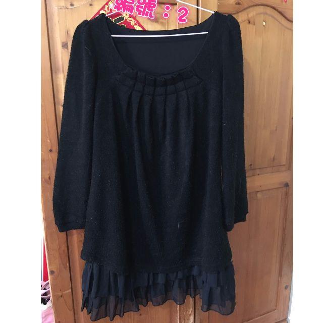 二手黑色洋裝M~XL