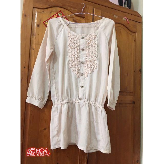 二手米白色氣質洋裝S~L