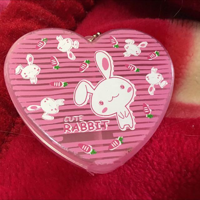 粉紅兔子收納盒藥盒