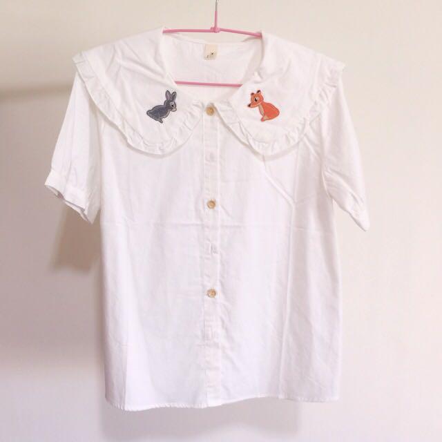 日系 森林系 軟妹 動物襯衫