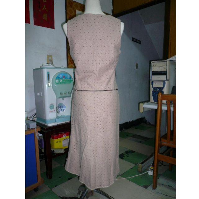 [二手] 秋冬無袖長洋裝 整套 附圍巾