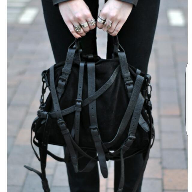 10733b17ed6e Alexander Wang Kirsten Multi-Strap Suede Tote Bag
