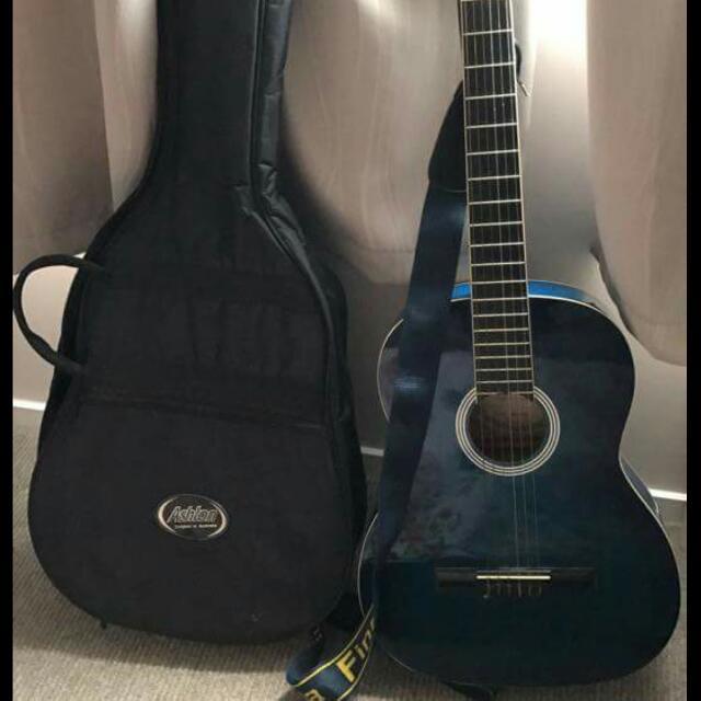 Ashton Acoustic Guitar Ocean Blue