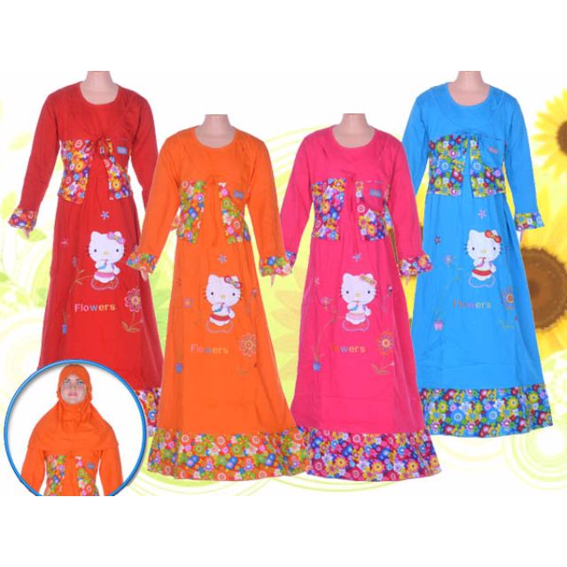Baju Muslim Hello Kitty Anak 5