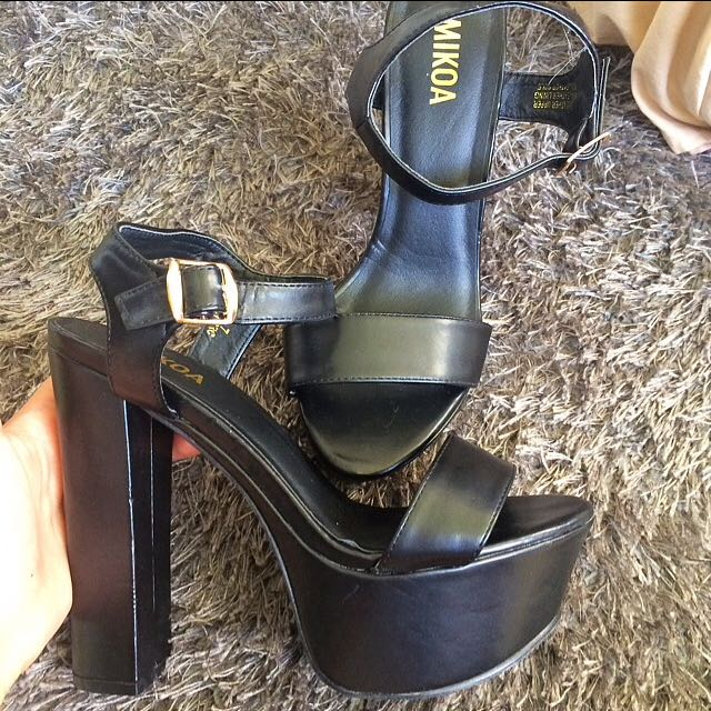Black Mikoa heels