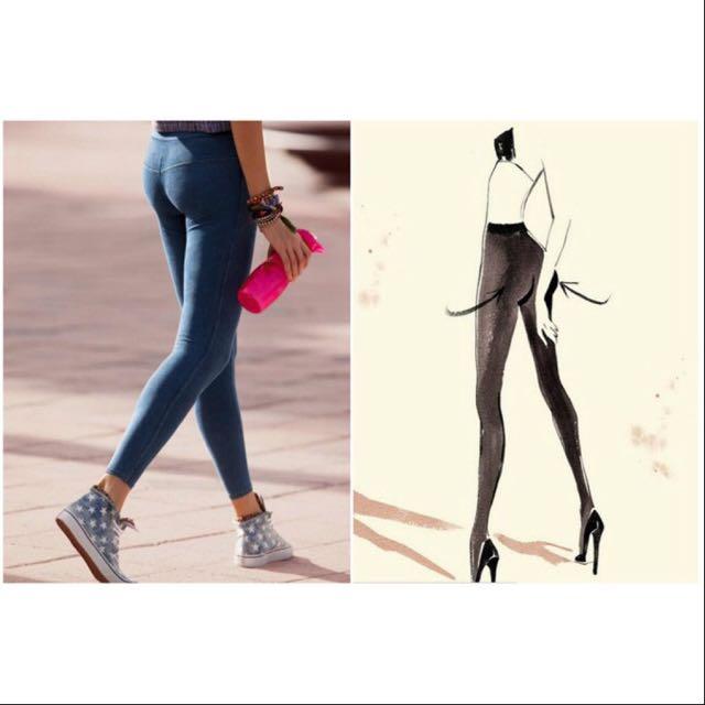 nuovo di zecca 0f5c6 6e01f Calzedonia Pink Push Up Leggings 粉紅色臀部提升褲子Yoga ...