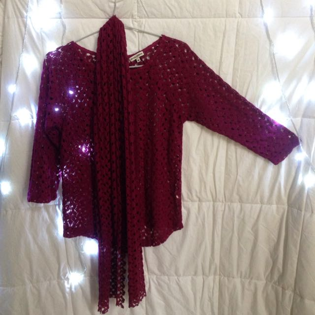 Colorbox See Through Blouse In Magenta