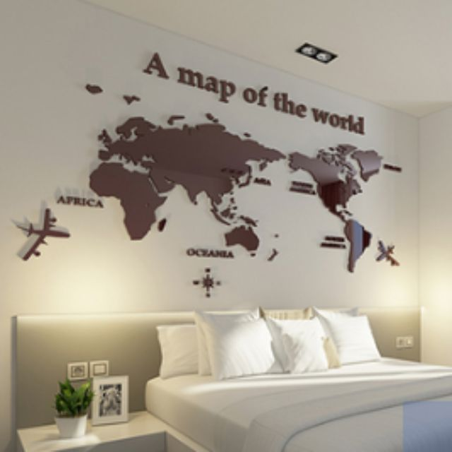 Creative 3d stereo wall stickers acrylic world map home furniture photo photo gumiabroncs Image collections