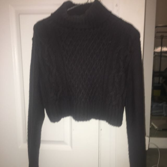 Cropped Turtle Neck