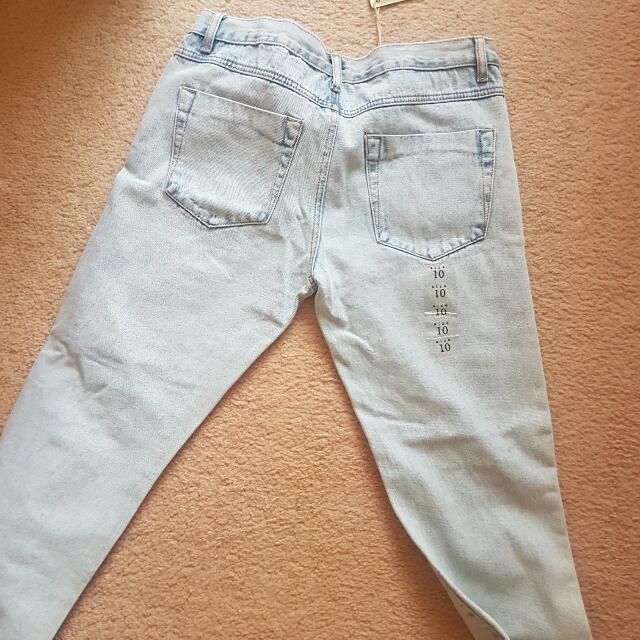 Faded Ripped Boyfriend Jeans Tags Attatched