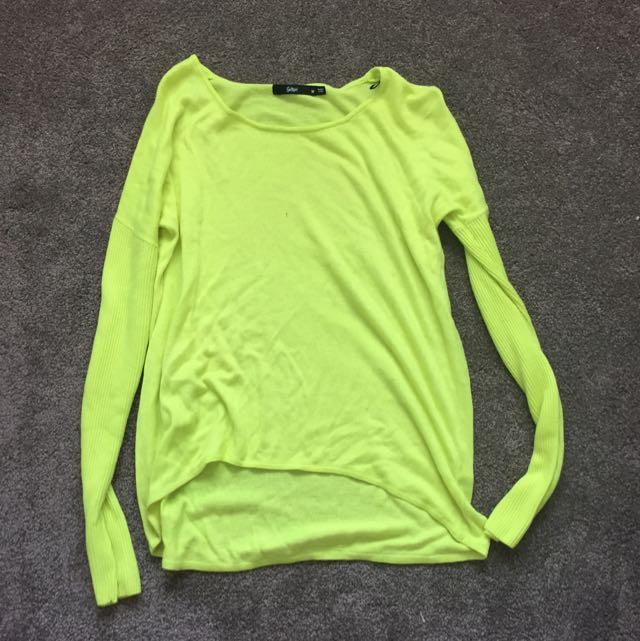 Fluro Yellow Medium Sweater