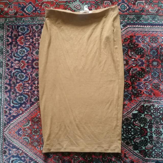 Forever21 Camel Pencil Skirt