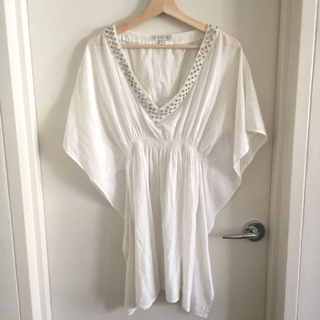 Forever New Beach Dress With Studs - Size S
