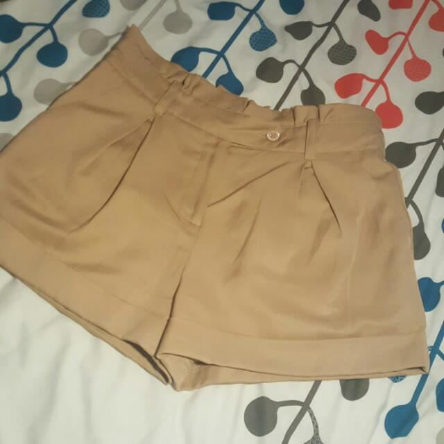 Forever New Tan Shorts Size 8