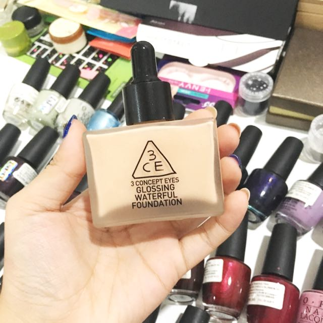 (Free Postage) 3CE Glossing Waterful Foundation
