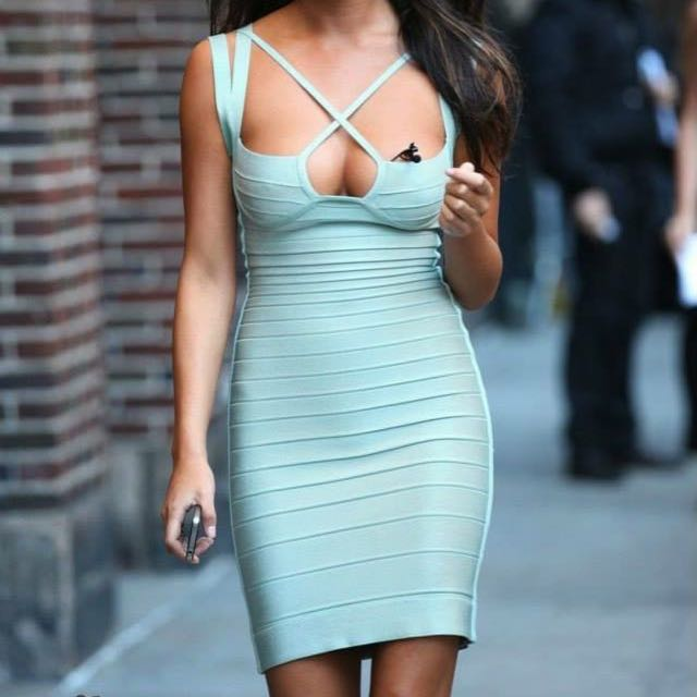 High Quality Bandage Cut Out Dress Brand New S