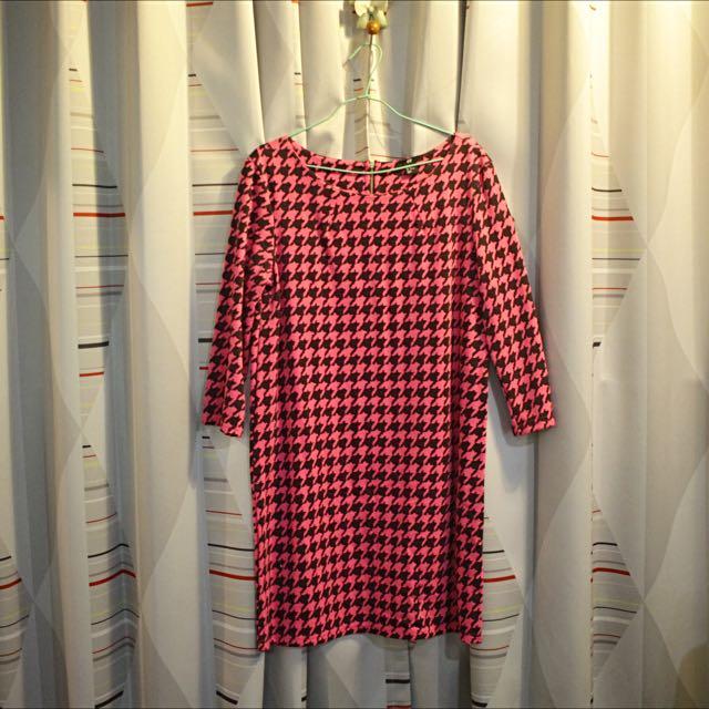 H&M千鳥格紋 長洋裝
