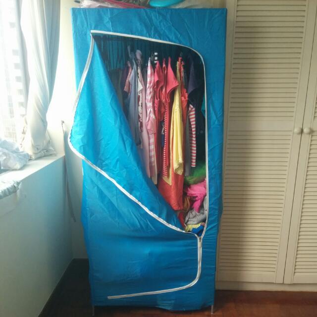 IKEA BREIM Wardrobe, blue, 80x55x180 cm, Half Price, Furniture ...