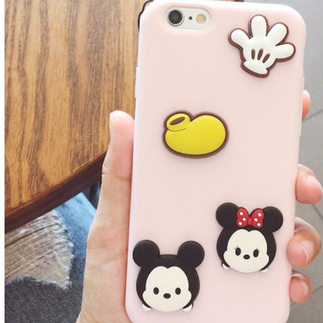 迪士尼卡通情侶iPhone7手機殼矽膠軟殼蘋果7