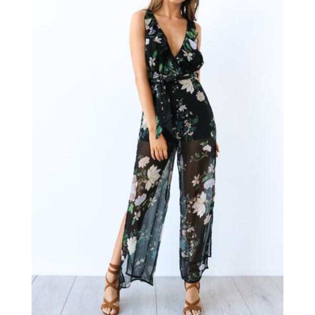 Jumpsuit Black Floral