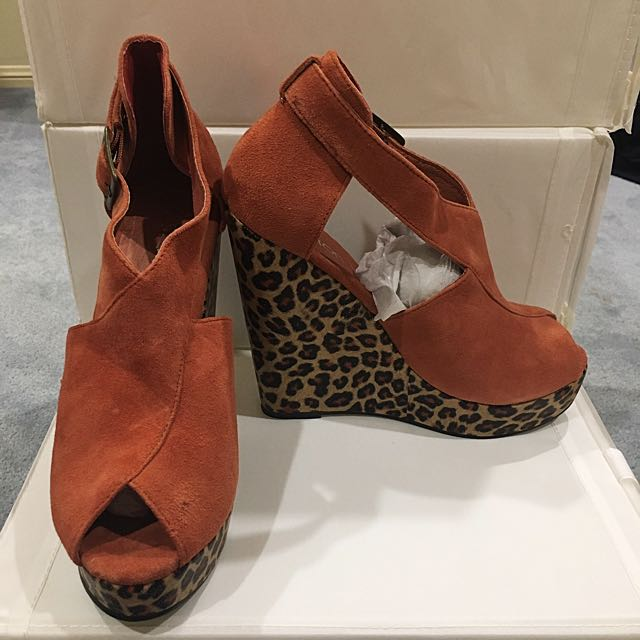 Leather Leopard Print Shoes