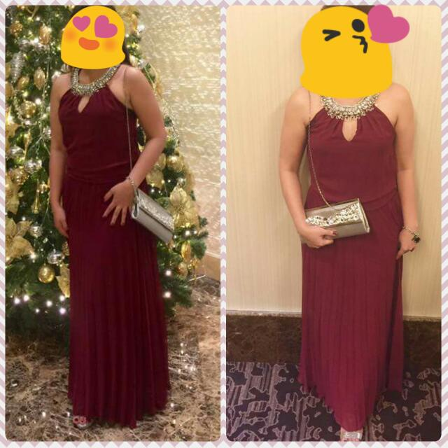 Marsala Gown, Long Dress, Cocktail Dress