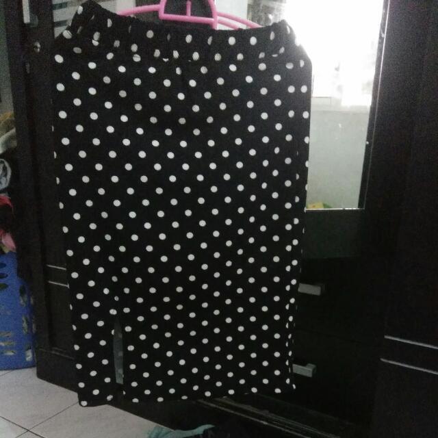 Midi Skirt Polkadot