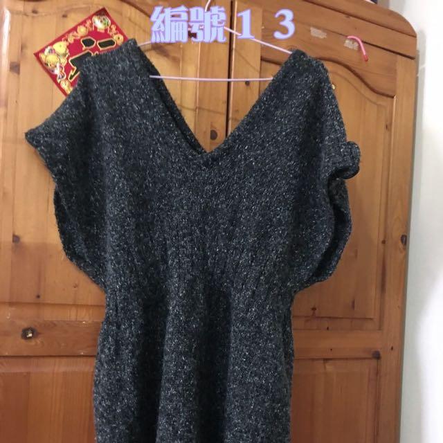 灰色外搭毛衣M-XL