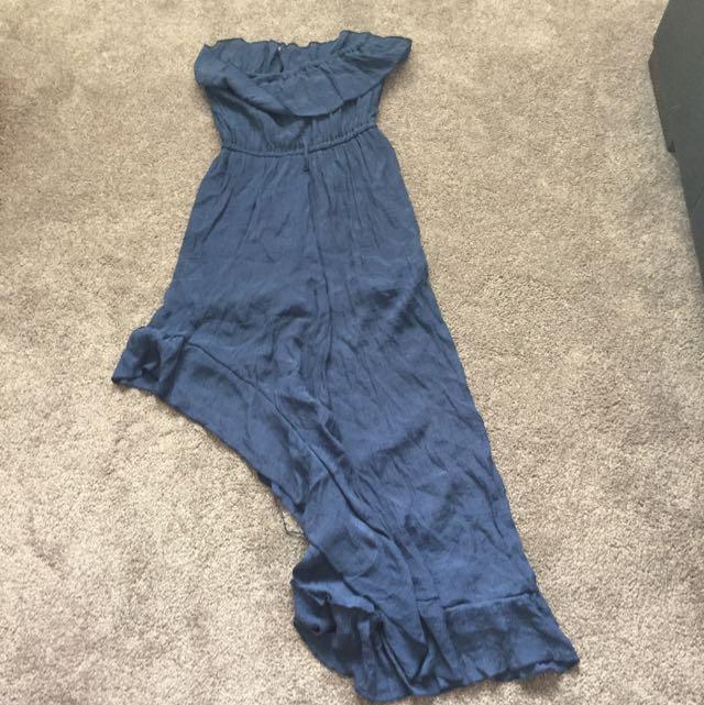 Navy Side Cut Dress (size 10)