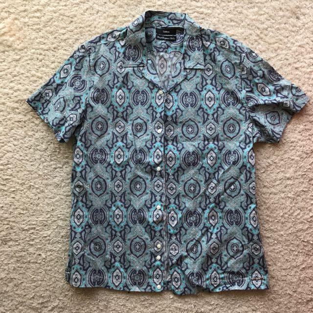 NEVER BEEN WORN Calibre SS Foulard Shirt Green Combo
