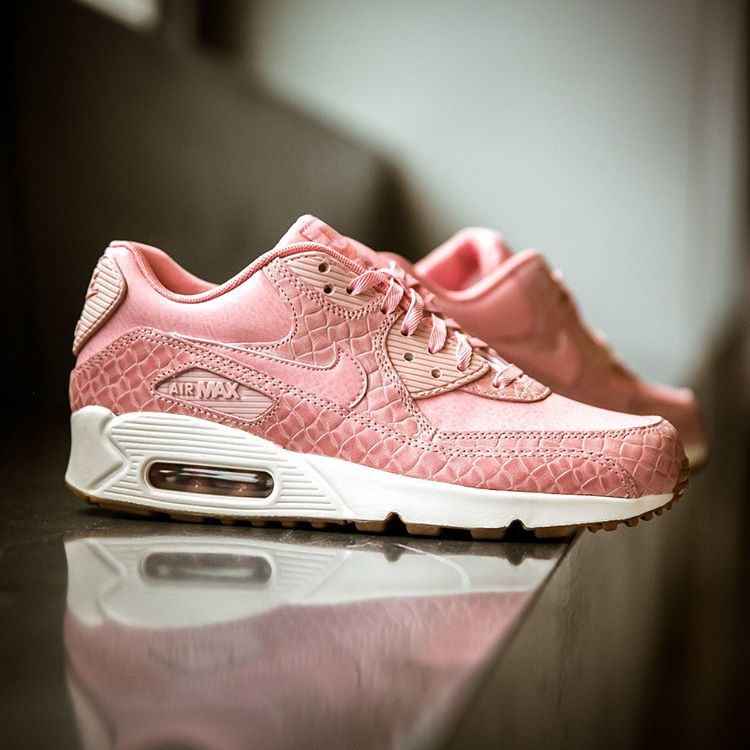 finest selection 3ab3c 87d74 Nike Air Max 90 Premium Pale/Sail Pink and Wolf Grey ...