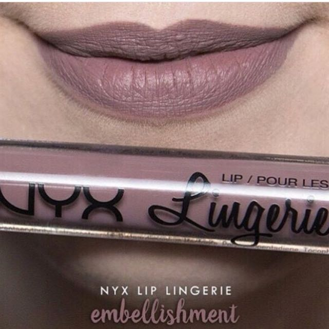 NYX LINGERIE LIP LIQUID IN EMBELISHMENT