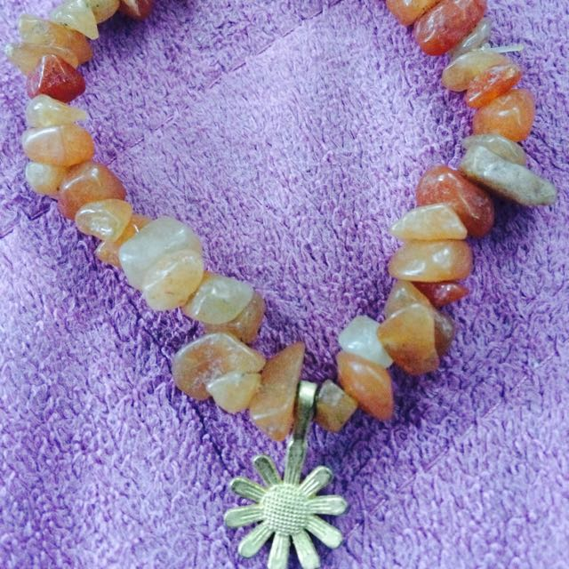 Orange Quartzite Bracelet